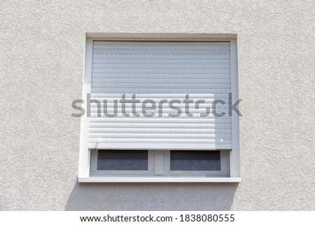 High quality uPVC windows with double glazed glass and roller shutters Stock photo ©