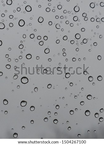 High Quality Water droplets on a window