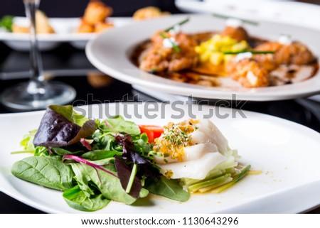 High quality white tuna salad #1130643296