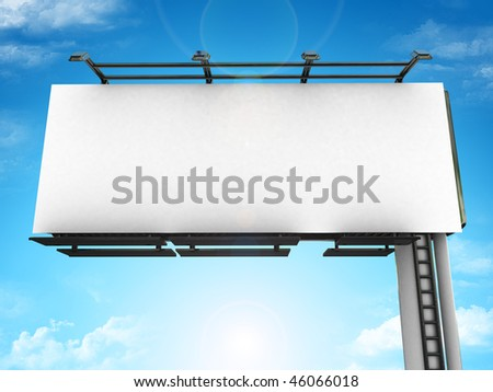 High res. blank big billboard with background-3d rendered