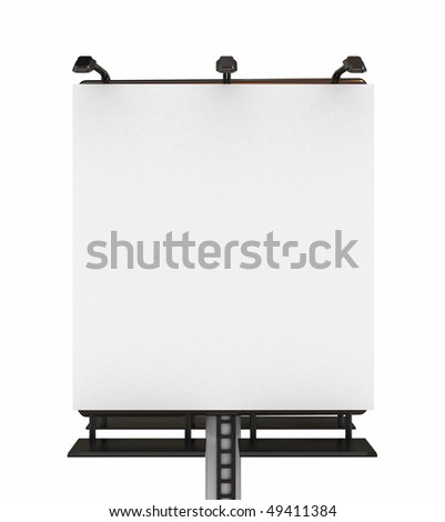 High res. blank big billboard with isolated-3d rendered