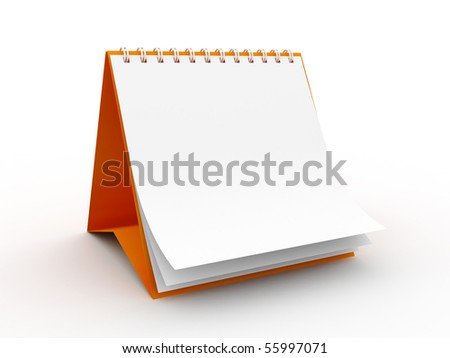 High Res. 3D Blank Calendar isolated