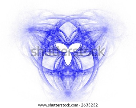 ... fractal forming the celtic symbol of the Holy Trinity - stock photo