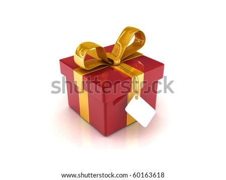 High res. Red Gift Boxes with Yellow Ribbon 3D RENDERED