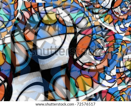 High Resolution Abstract of many shapes