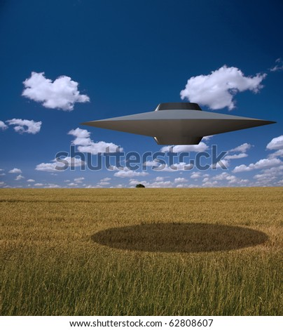 High Resolution Alien Saucer