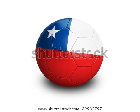 High resolution and highly detailed 3D rendering of a chilenian soccerball. With clipping path removes the soft shadow. This country qualified for the 2010 soccer world cup in South Africa.