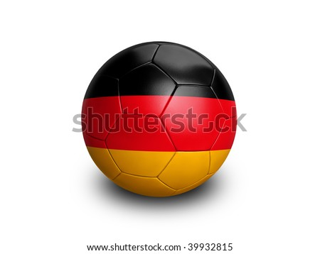 High resolution and highly detailed 3D rendering of a german soccerball. With clipping path removes the soft shadow. This country qualified for the 2010 soccer world cup in South Africa.