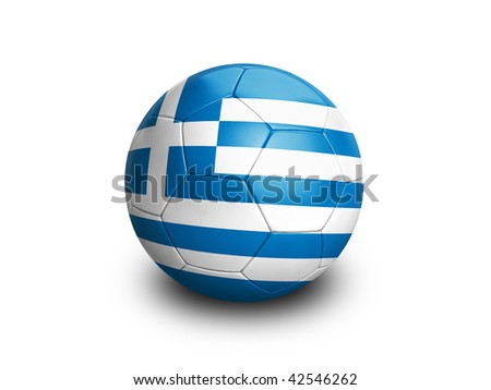 High resolution and highly detailed 3D rendering of a greek soccer ball. With clipping path removes the soft shadow. This country qualified for the 2010 soccer world cup in South Africa.