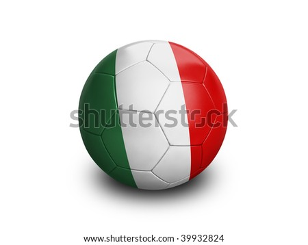 High resolution and highly detailed 3D rendering of a italian soccerball. With clipping path removes the soft shadow. This country qualified for the 2010 soccer world cup in South Africa.