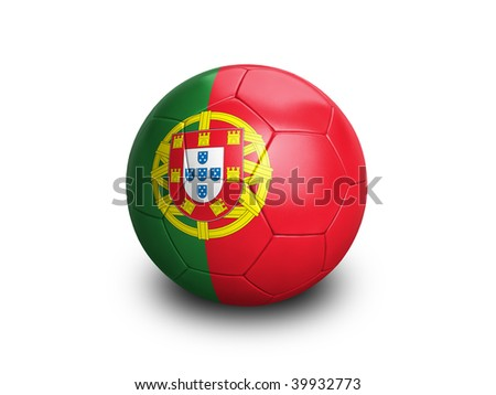 High resolution and highly detailed 3D rendering of a portuguese soccerball. With clipping path removes the soft shadow. This country qualified for the 2010 soccer world cup in South Africa.
