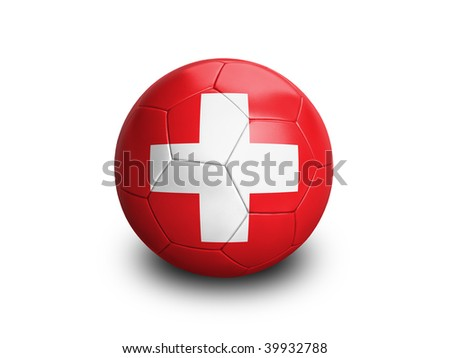 High resolution and highly detailed 3D rendering of a swiss soccerball. With clipping path removes the soft shadow. This country qualified for the 2010 soccer world cup in South Africa.