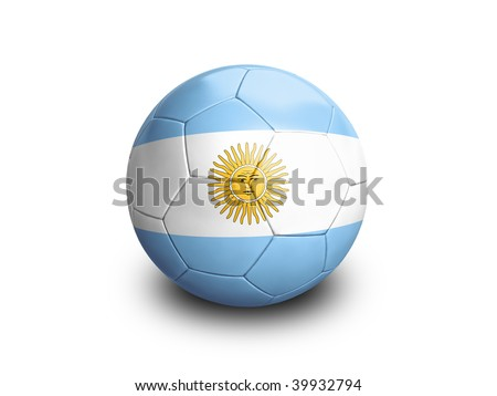 High resolution and highly detailed 3D rendering of an argentinian soccerball. With clipping path removes the soft shadow. This country qualified for the 2010 soccer world cup in South Africa.