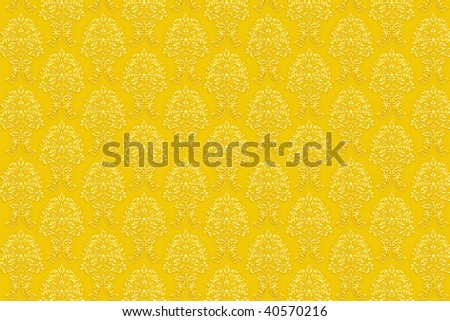 high resolution background wallpaper with fine detailed golden paint ornaments. easily tileable.
