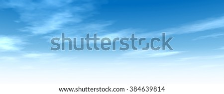 High resolution beautiful blue natural sky with white clouds paradise cloudscape background for summer or spring season or for space, environment, freedom, meteorology, atmosphere, heaven or tranquil - Shutterstock ID 384639814