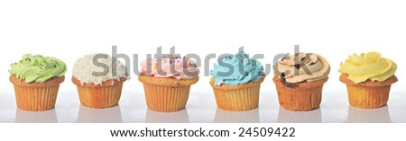 High resolution birthday cupcakes, add your own text.