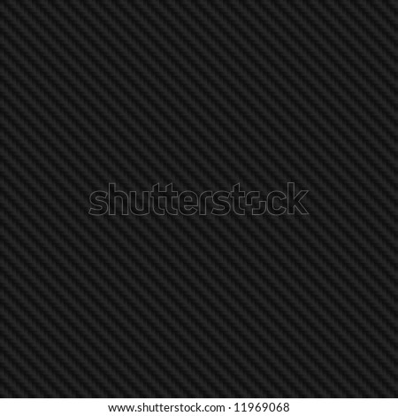 High resolution black carbon fiber background illustration - stock photo