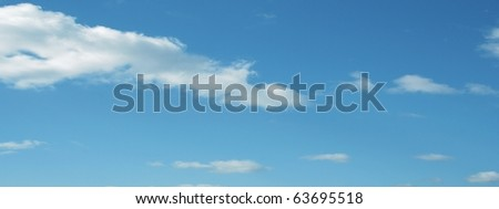 High resolution blue sky background
