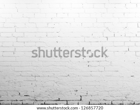 High resolution brick white wall