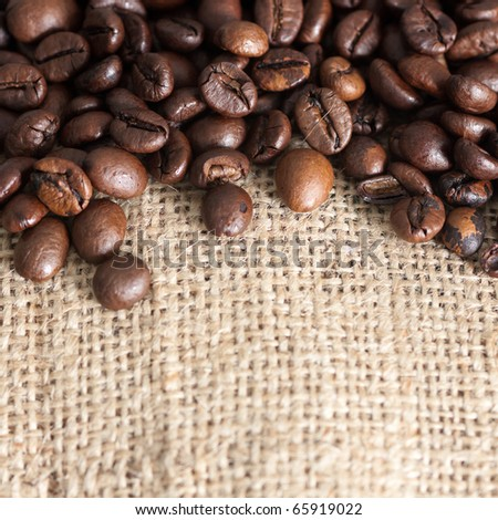 High Resolution Coffee Background With Copy Space