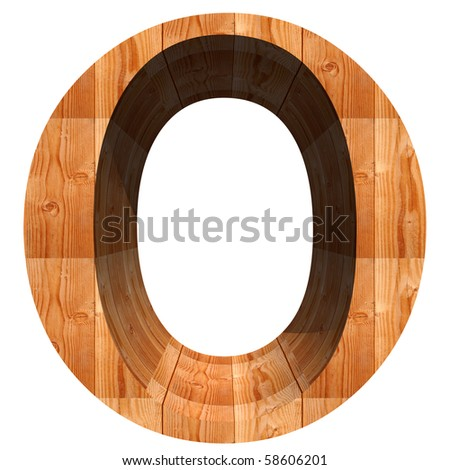 High resolution conceptual wood font isolated on white background