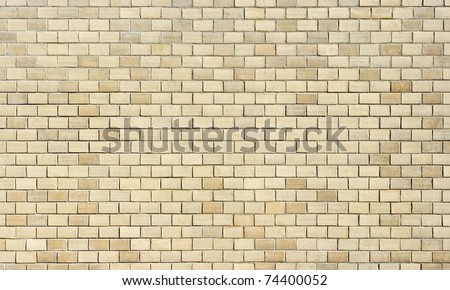 High resolution cream brick wall texture