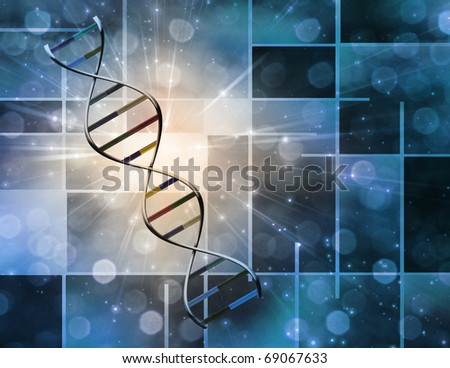 High Resolution 3D Illustration Of DNA Strand