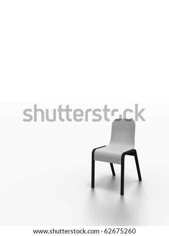 high resolution 3d render of a modern chair isolated on white