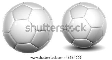 High resolution 3D soccer balls isolated on white background