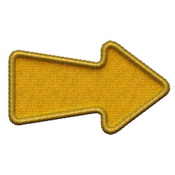 High resolution Embroidery Golden Arrow isolated on white. No Shadow to change colour easily.