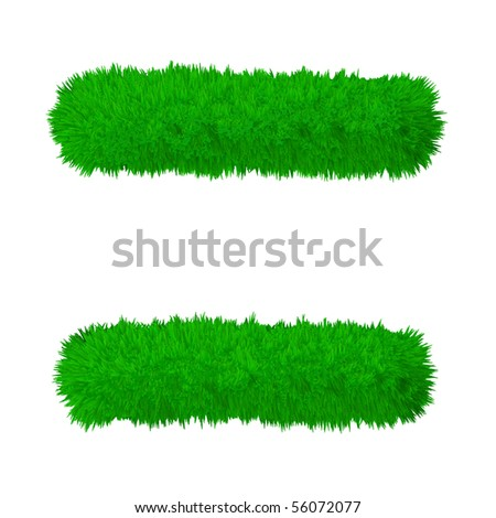 High resolution grass symbol isolated on white background