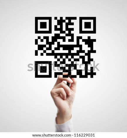 High resolution hand drawing qr code