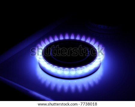 High Resolution Image Fire Blue Flames Of Gas Stove In The Dark Stock Photo 7738018 Shutterstock
