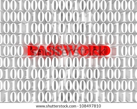 High resolution image password. 3d rendered illustration. Symbol password.