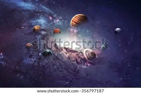 Photo of  High resolution images presents creating planets of the solar system. This image elements furnished by NASA.