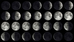 High Resolution Moon Calendar (50MP)