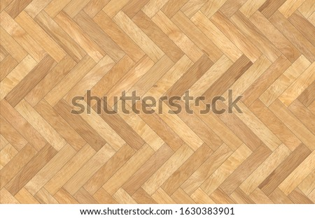 High resolution of a perfect herringbone wooden parquet - Texture and background top view Stock photo ©