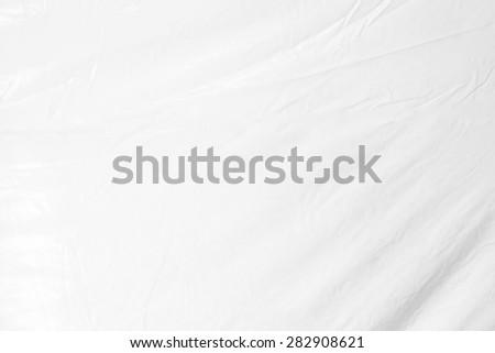 High resolution of crumpled white plastic sheet , crumpled white vinyl canvas