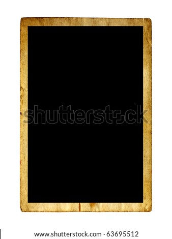 High resolution old photo background isolated on white