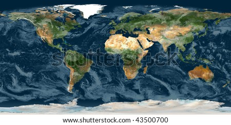 High resolution raster map of planet Earth