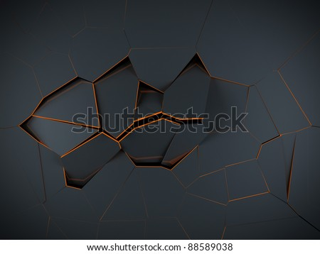 High resolution render of an abstract and modern Voronoi 3D diagram background - stock photo