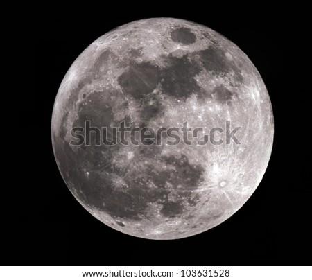High Resolution Super Moon