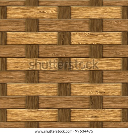 High resolution textured of wood fiber weaving background. Seamless pattern, computer graphic