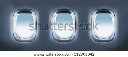 High resolution three aircraft's porthole