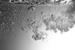 High resolution. Wave and bubbles to clean drinking water