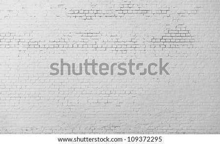 High resolution white brick wall