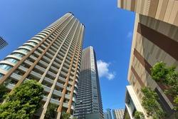 High-rise apartment building in Musashikosugi, Japan