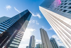 High-rise building group in Shinjuku/Shinjuku h is a city in Japan