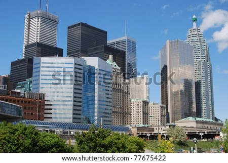 High Rise Buildings at Downtown Toronto