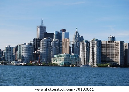 High Rise Buildings at Toronto Waterfront  in Canada